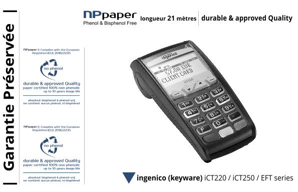 NPpaper label de Qualité | Terminal de Paiement Ingenico Keyware iCT