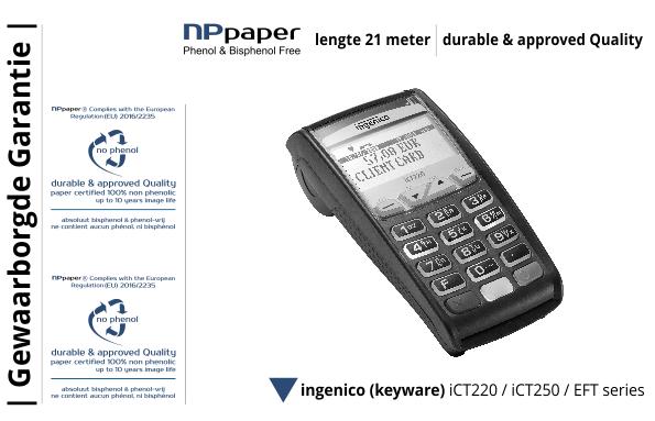 NPpaper Kwaliteitslabel | Keyware Ingenico iCT terminal