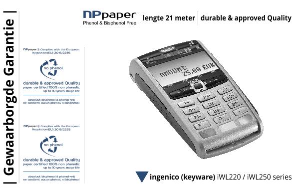 NPpaper Kwaliteitslabel | Keyware Ingenico iWL terminal