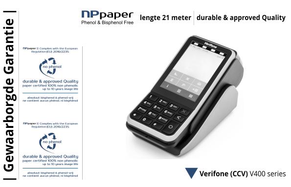 NPpaper Kwaliteitslabel | ccv verifone v400 terminal