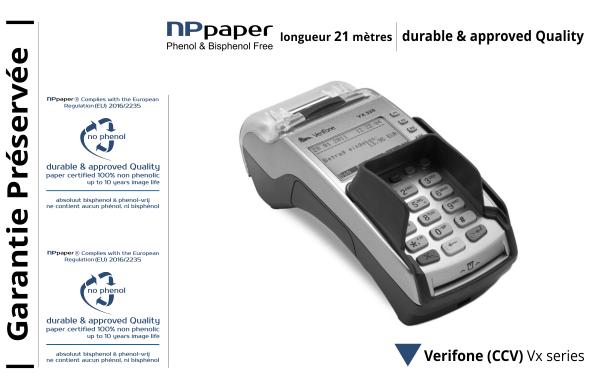 NPpaper label de Qualité | Terminal de Paiement CCV Verifone Vx