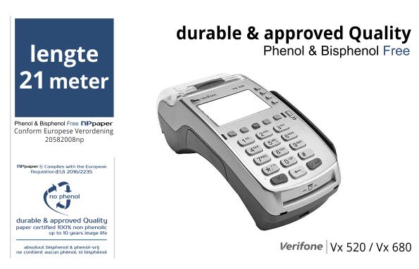 NPpaper Kwaliteitslabel | ccv verifone Vx series terminal