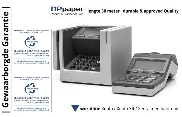 NPpaper Kwaliteitslabel | Worldline Xenta Betaalterminal