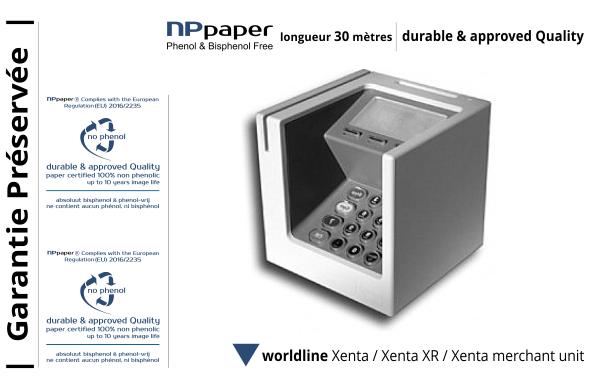 NPpaper label de Qualité | Terminal de Paiement Worldline Xenta sdle