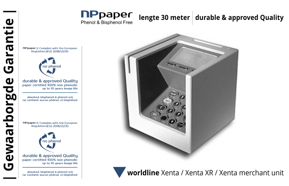 NPpaper Kwaliteitslabel | Worldline Xenta sdle Betaalterminal