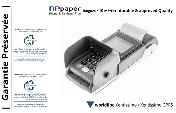 NPpaper label de Qualité | Terminal de Paiement Worldline Xentissimo