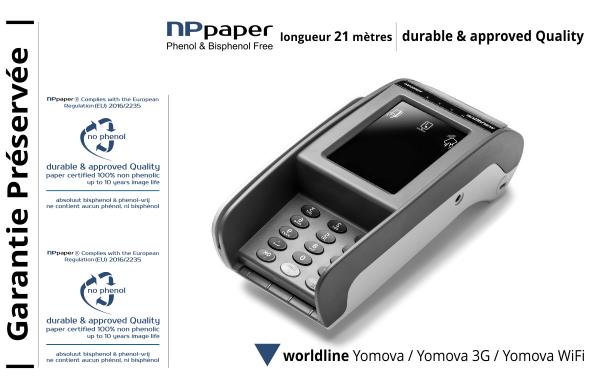NPpaper label de Qualité | Terminal de Paiement Worldline Yomova