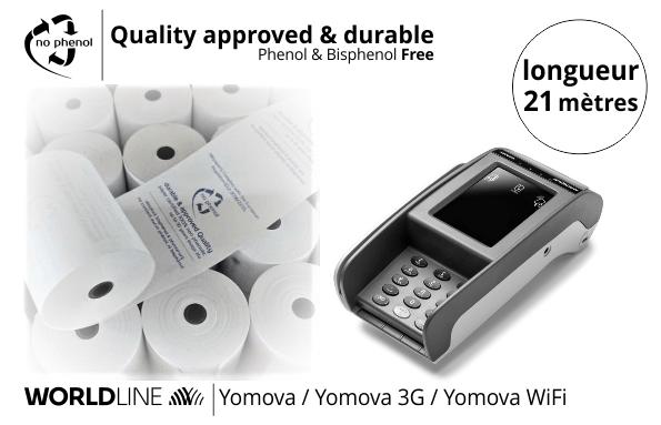 NPpaper label de Qualité   Terminal de Paiement Worldline Yomova