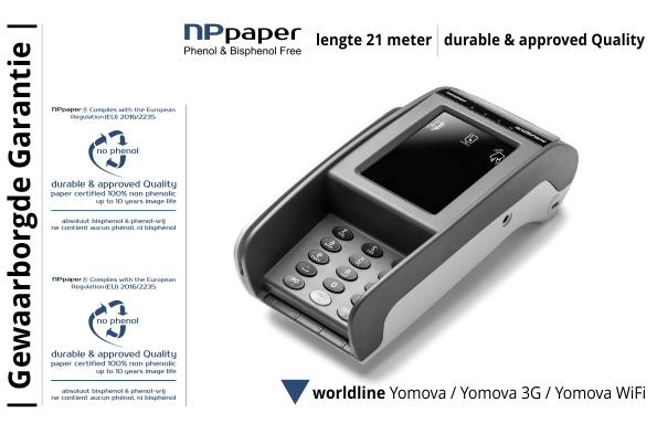 NPpaper Kwaliteitslabel | Worldline Yomova Betaalterminal