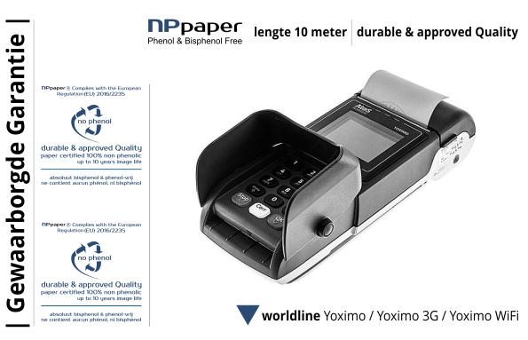 NPpaper Kwaliteitslabel | Worldline Yoximo Betaalterminal